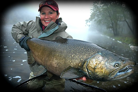 Muskegon salmon michigan fly fishing guide outfitter for St joseph michigan fishing report